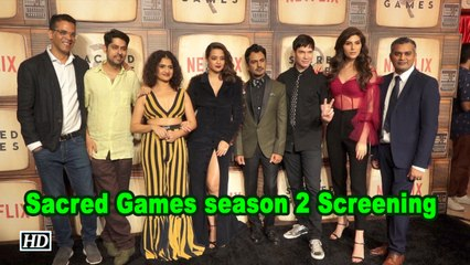 Sacred Games season 2 Screening | Nawazuddin Siddiqui, Suvreen Chawla attend