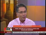 Roxas faces media a day after accepting DOTC post