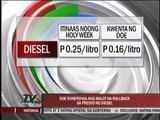 DOE defends meager rollback in diesel prices