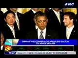 Obama welcomes LA Galaxy to White House