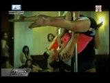 Gretchen Malalad goes pole dancing