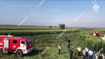 Avión de línea ruso efectúa aterrizaje de emergencia en un campo de maíz