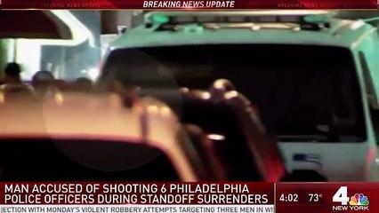 Man Accused of Shooting 6 Philadelphia Cops Surrenders After Seven-Hour Standoff
