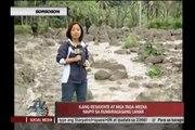 Bulusan lahar flows near houses