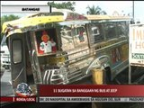 11 hurt after bus rams jeepney in Batangas
