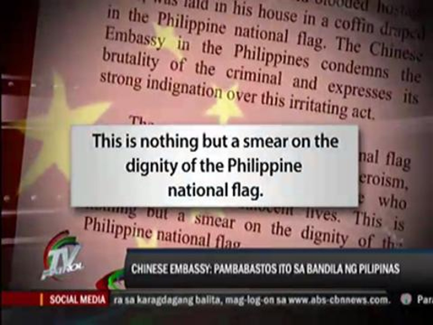 Palace denies it allowed RP flag on Mendoza 's coffin