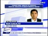 Rep. Gloria Arroyo arrives at Makati Medical Center