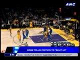 Kobe tells critics to 'shut up'