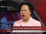 Senator-judges show support for Enrile