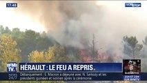 Hérault: l'incendie de Cébazan a repris