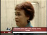 Banco Filipino depositors disappointed, angry during forum