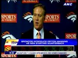 Broncos introduce Manning as new quarterback