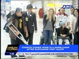 Charice back in Manila, arrives in a wheelchair