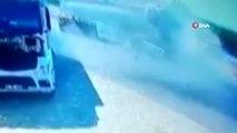Akaryakıt tankeri tıra arkadan çarptı, faciaya ramak kaldı... O anlar kamerada