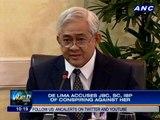 De Lima accuses JBC, SC, IBP of conspiring against her
