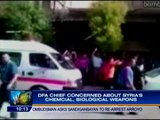 DFA chief concerned over Syria's chemical weapons