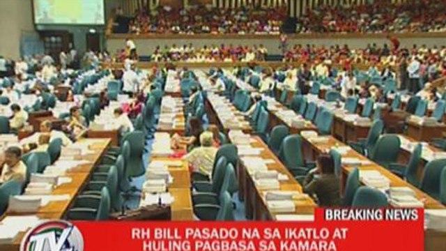 House passes RH bill on third reading