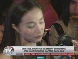 Cristine wishes sister Ara a merry Christmas