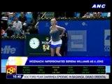 Wozniacki impersonates Serena as a joke