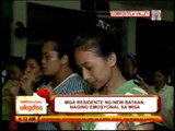 Typhoon survivors emotional during mass