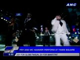 Psy and MC Hammer perform mash-up in Times Square