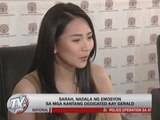 Sarah admits 'misbehavior' in singing about Gerald