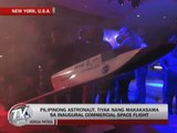 Pinoy astronaut to be part of commercial space flight