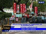 Groups stage protest vs cybercrime law at Supreme Court