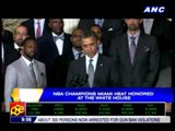 Miami Heat honored at the White House
