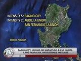 Magnitude 4.5 quake jolts Baguio City