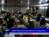 BMPM holds election forum in La Salle-Taft