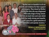 Lily Monteverde diagnosed with lung cancer; PNoy visits