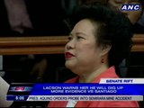Lacson hits back at Santiago, warns of possible cases
