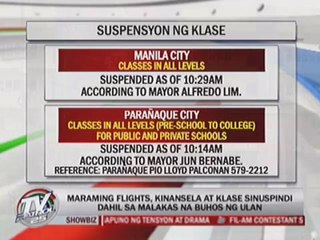 Classes called off, flights cancelled amid heavy rains