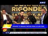 Donaire to demand drug testing from future foes