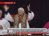 Pope Benedict XVI leads last Angelus