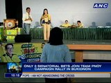 Only 3 senatorial bets join Team Pnoy campaign rally in Bukidnon; Only 4 senatorial bets join UNA sortie in QC