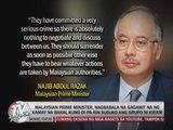 Malaysian PM urges Kiram group to surrender