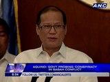 Aquino: Gov't probing 'conspiracy' in Sabah conflict