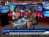 Nancy on debating Miriam: UP grad naman ako