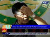 Sulu sultan withdraws truce call in Sabah