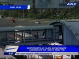 Motorists at NLEX experience moderate to heavy traffic