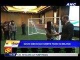 David Beckham meets fans in Beijing