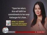 ABS-CBN responds to Kris Aquino's resignation