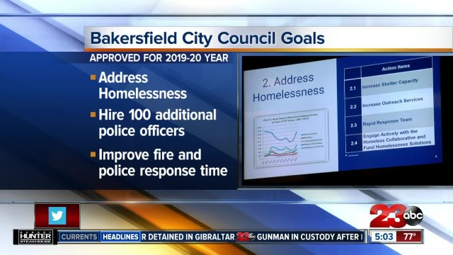 Bakersfield City Council sets new goals addressing homelessness, emergency response times