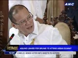 PNoy leaves for Brunei to attend ASEAN summit