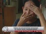 Victim's kin grieve over student's sudden death