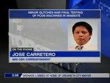 Minor glitches mar final testing of PCOS machines in Masbate