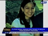 Filipino bride, friends died trying to escape from burning limousine