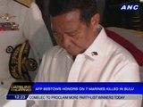 AFP bestows honors on 7 marines killed in Sulu
